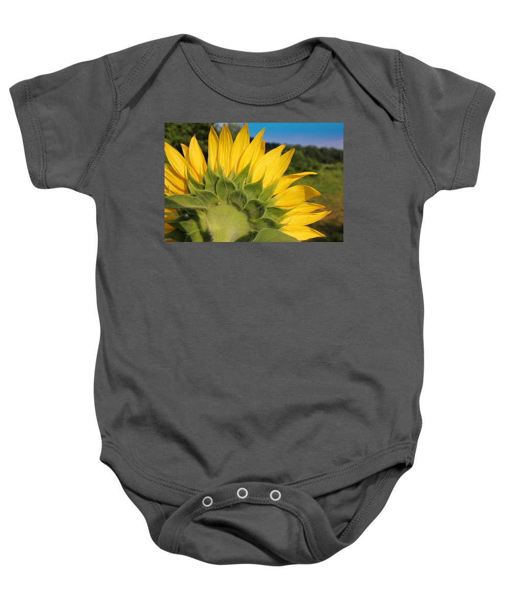 Sunflower Baby Onesie featuring the photograph Sunflower1253 by Carolyn Stagger Cokley