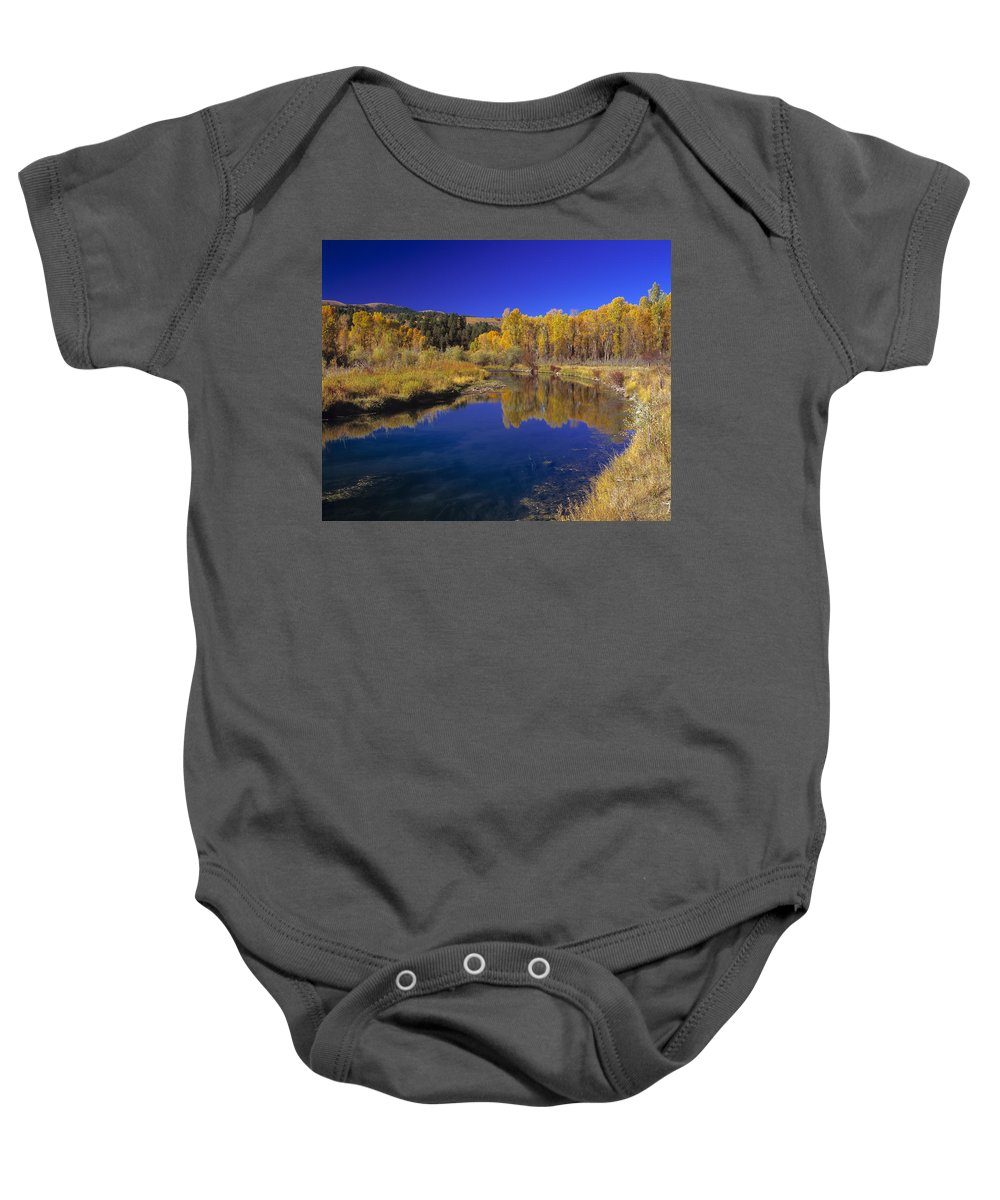 Sunny Day Baby Onesie featuring the photograph Sunny Day by Leland D Howard