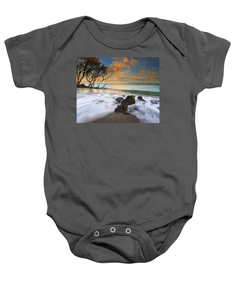 Sunset Baby Onesie featuring the photograph Sunset In Paradise by Mike Dawson