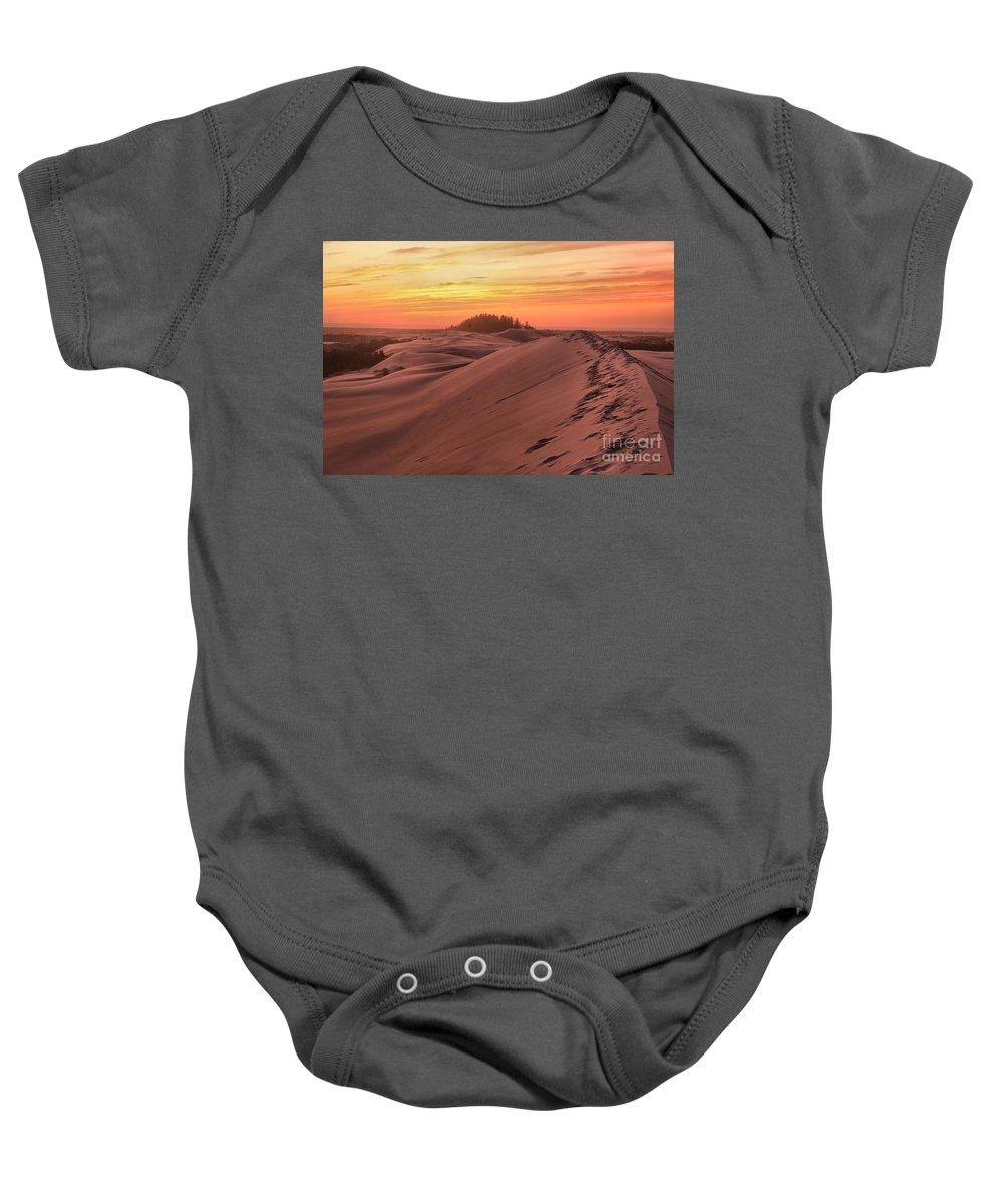 Oregon Dunes Baby Onesie featuring the photograph Sunset On The Ridge by Adam Jewell