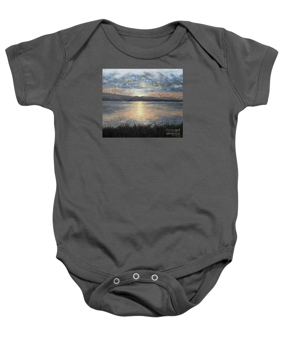 Donegal Baby Onesie featuring the painting Irish Landscape 23 by Patrick J Murphy