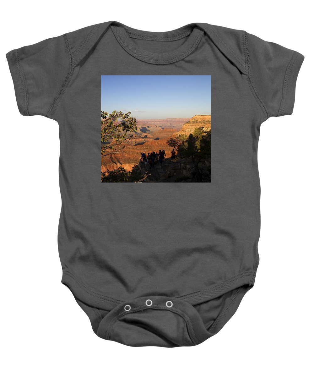 The Grand Canyon Baby Onesie featuring the photograph Sunset Vigil Grand Canyon by Peter Lloyd