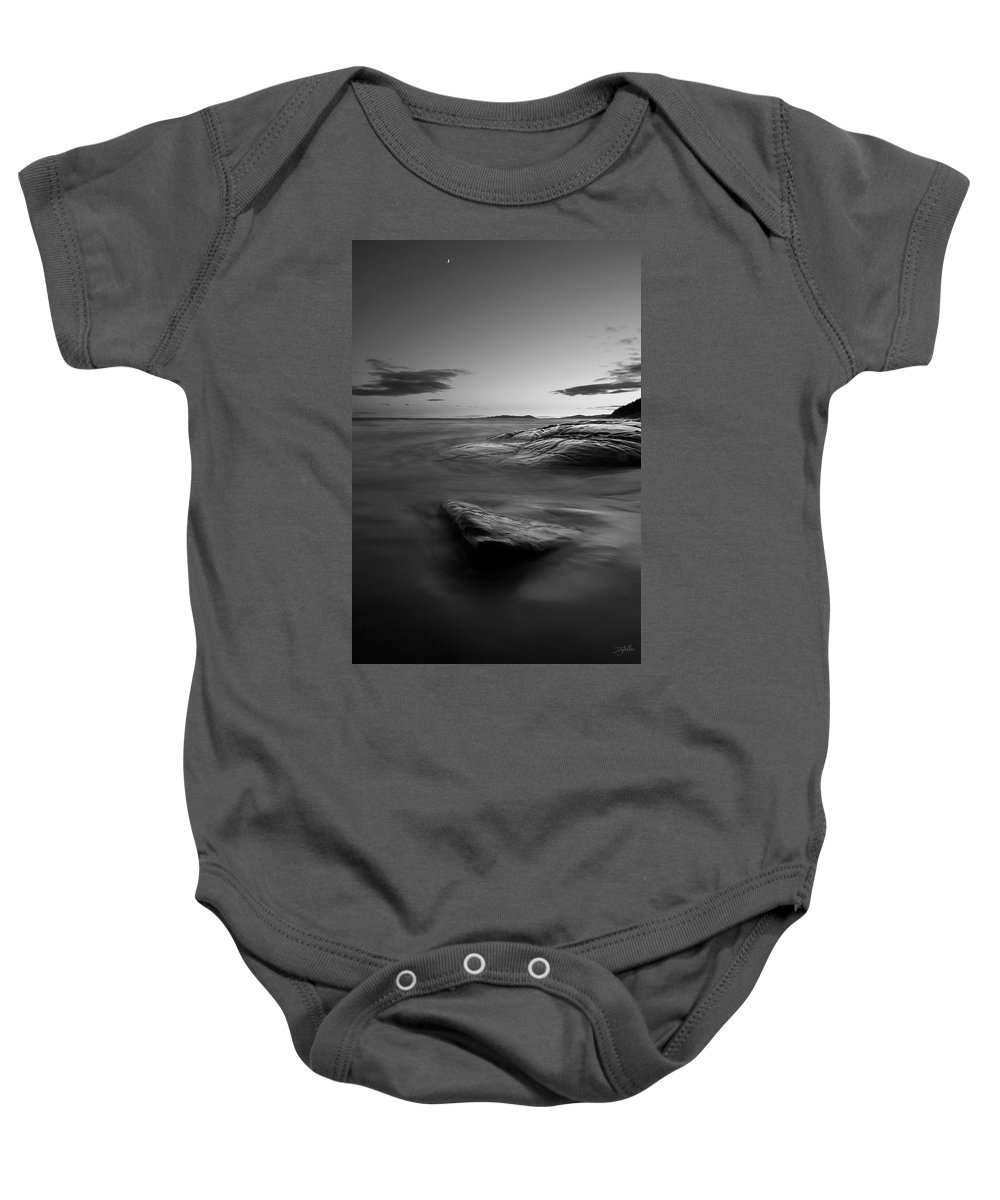 Lake Superior Baby Onesie featuring the photograph Superior Crescent  by Doug Gibbons