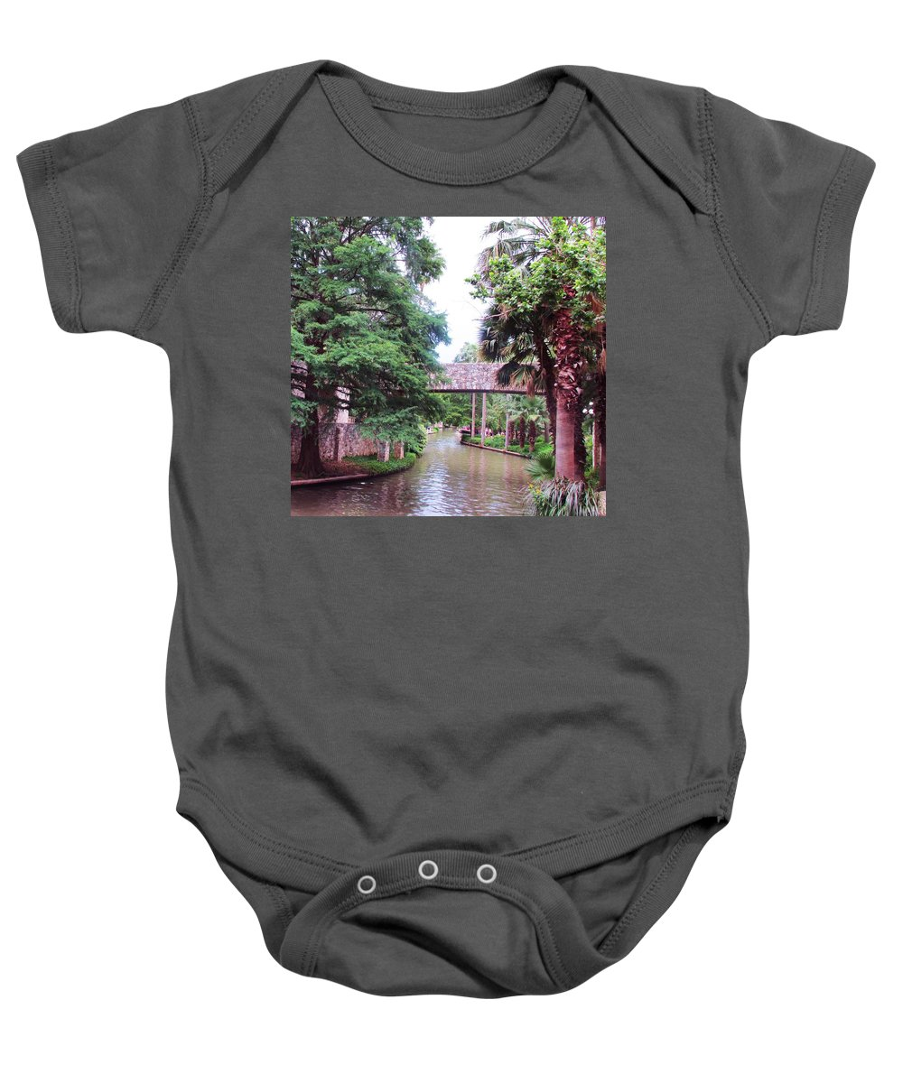 River Baby Onesie featuring the photograph Surreal Setting by Jewell McChesney