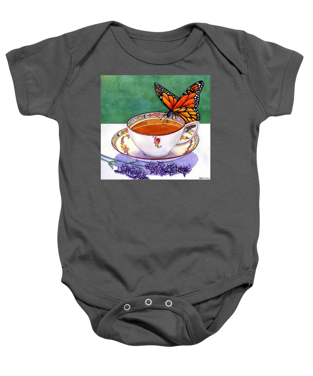 Butterfly Baby Onesie featuring the painting Sweet by Catherine G McElroy