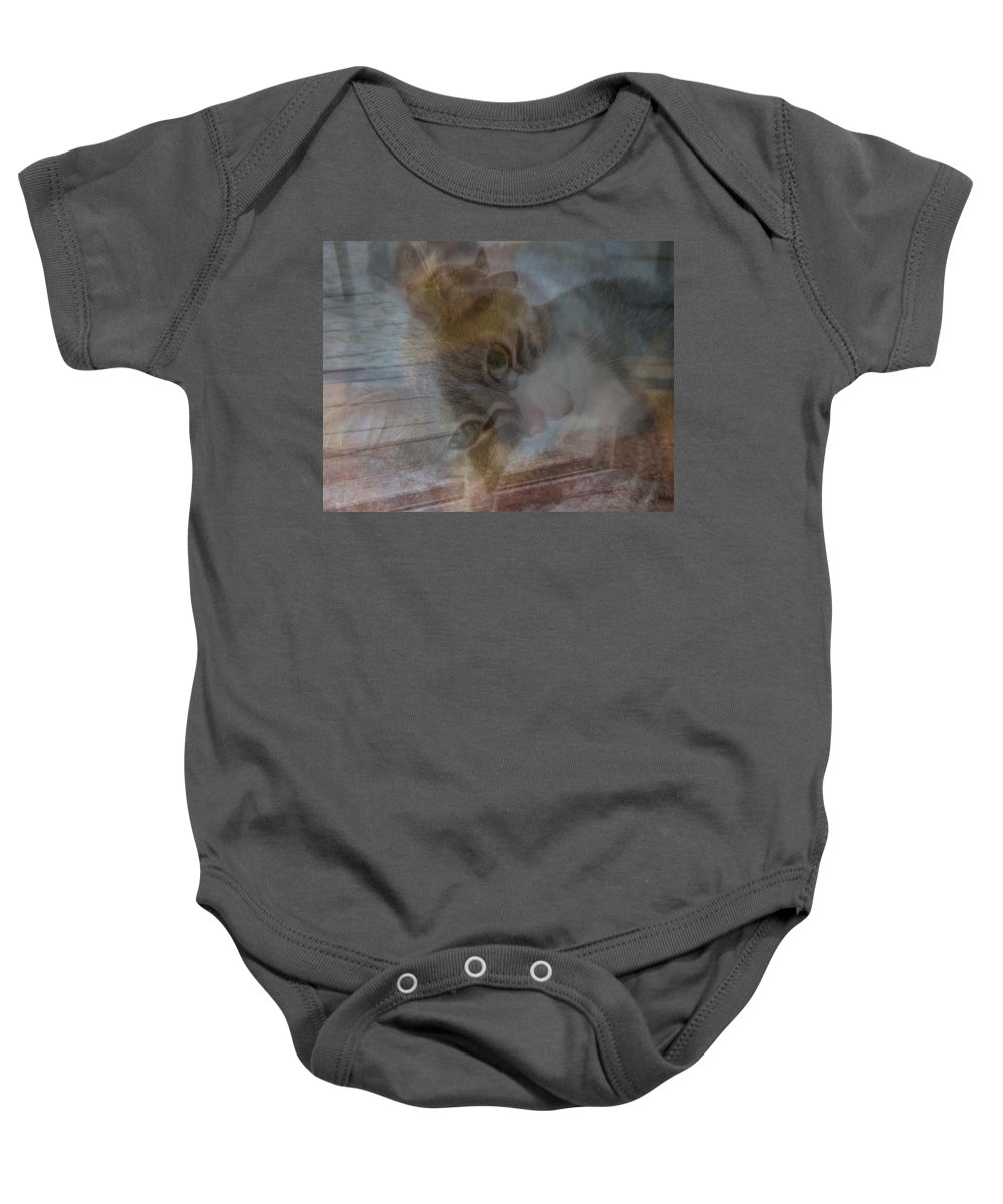 Cat Baby Onesie featuring the photograph Sweet Girl On A Summer's Day by Kay Novy