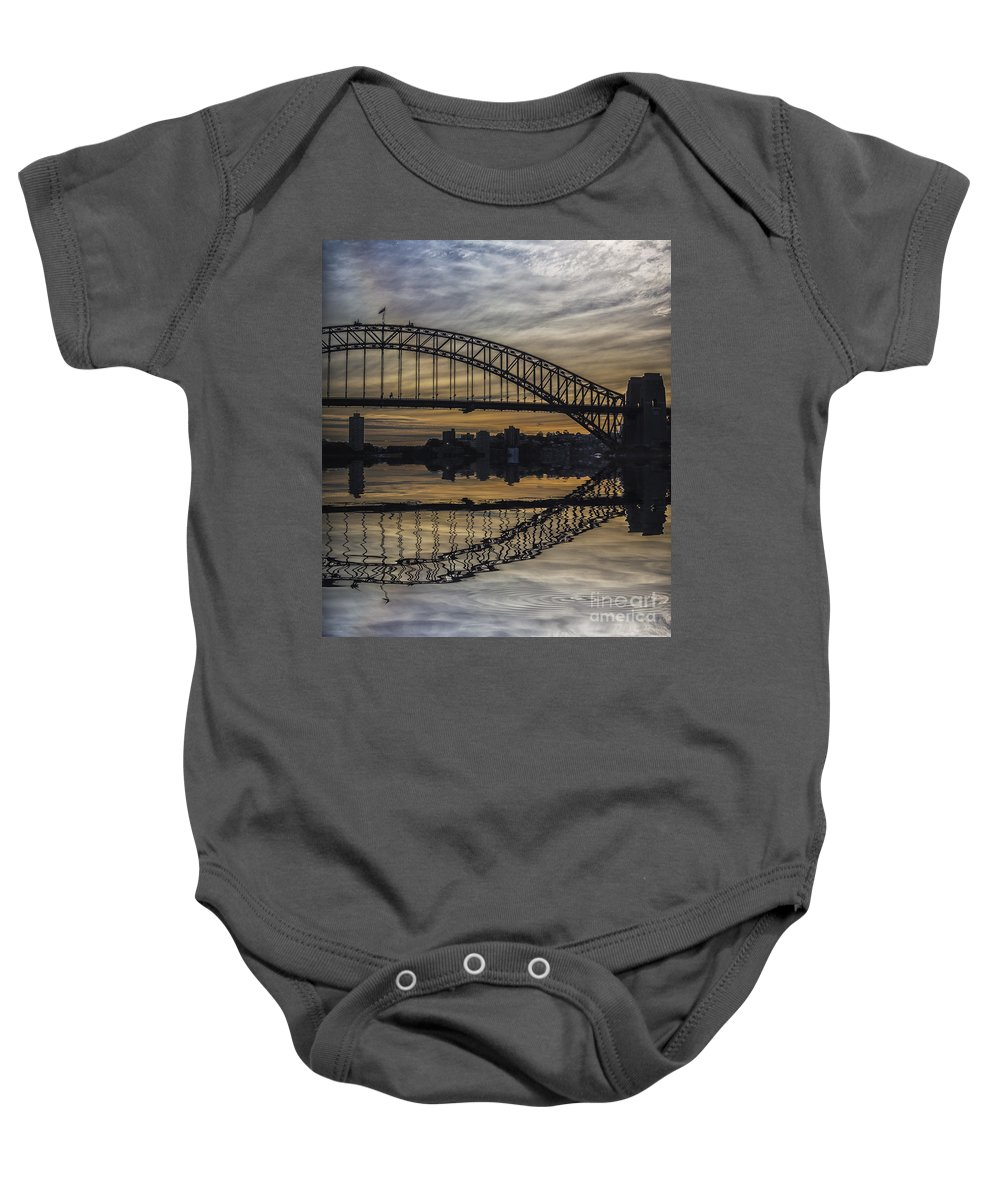Sydney Baby Onesie featuring the photograph Sydney Harbour Late Afternoon by Sheila Smart Fine Art Photography