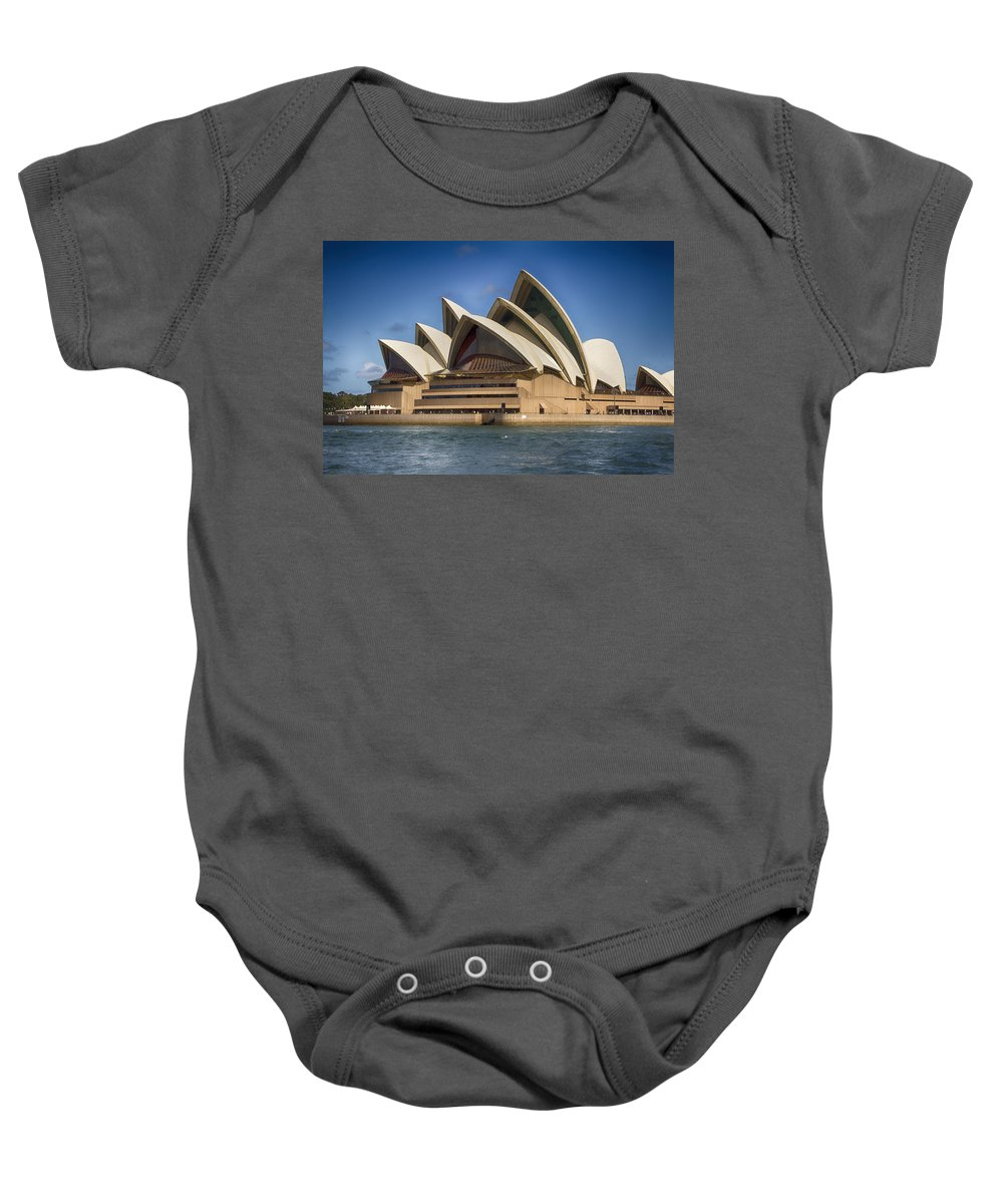 Sydney Opera House Baby Onesie featuring the photograph Sydney Opera House V10 by Douglas Barnard