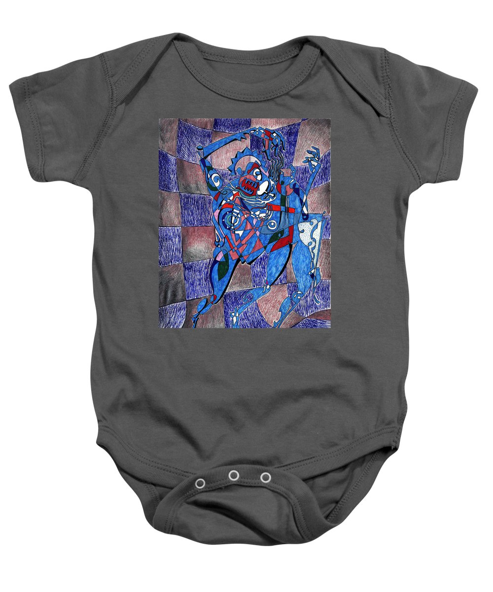 Dance Baby Onesie featuring the painting Tango by Miko At The Love Art Shop