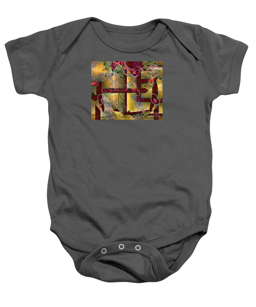 Abstract Baby Onesie featuring the painting Tea Ceremony by RC DeWinter