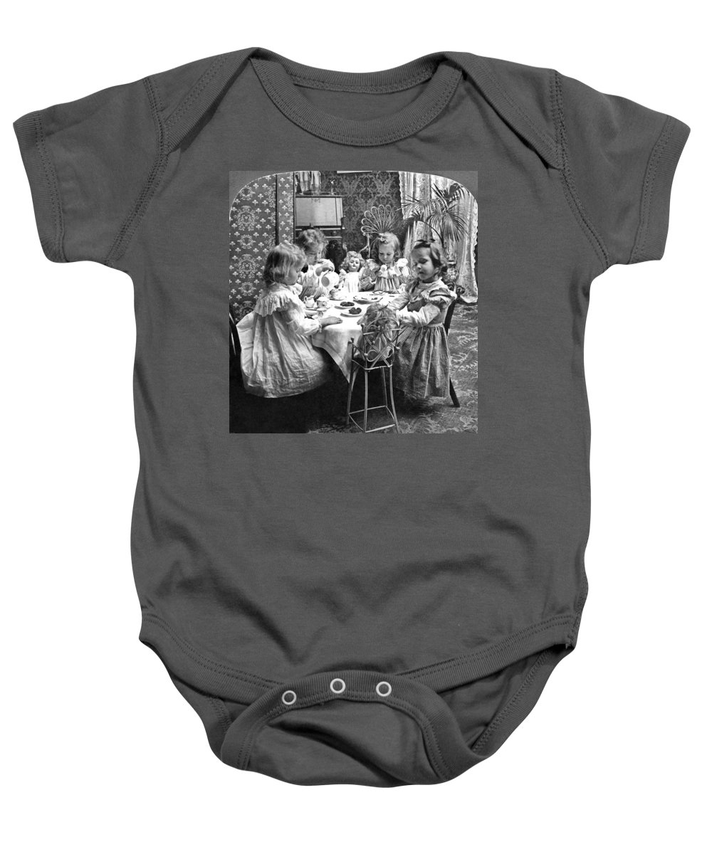 1902 Baby Onesie featuring the photograph Tea Party, C1902 by Granger