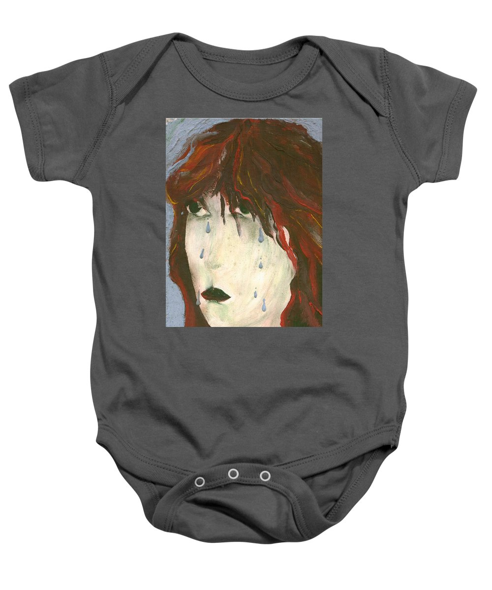 Colour Baby Onesie featuring the painting Tear by Wojtek Kowalski
