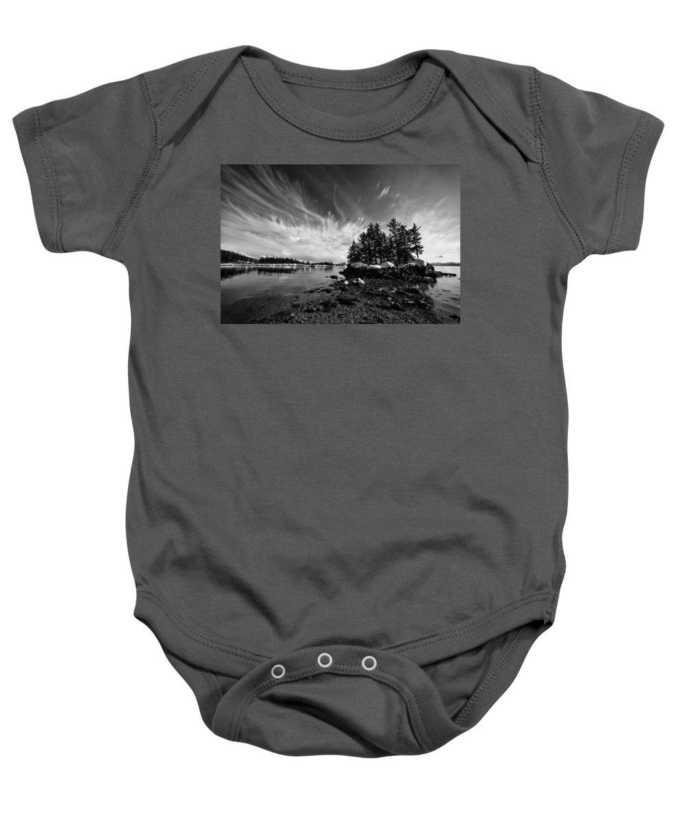 Prince William Sound Baby Onesie featuring the photograph Tendrils by Ted Raynor
