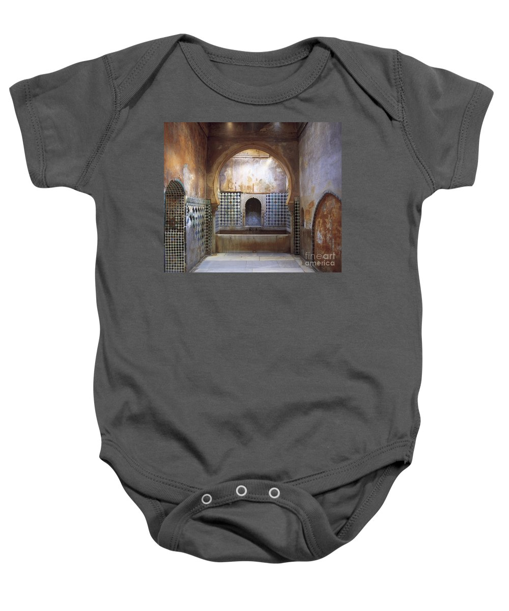 The Alhambra Baby Onesie featuring the photograph The Alhambra by Guido Montanes Castillo