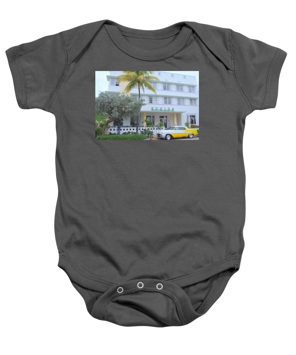 Art Deco Baby Onesie featuring the photograph The Avalon by Tom Reynen