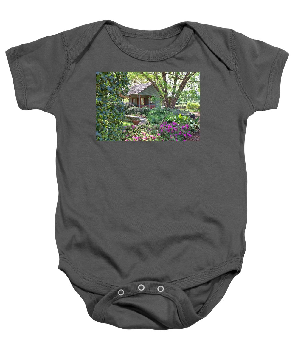 8299 Baby Onesie featuring the photograph The Back Porch by Gordon Elwell