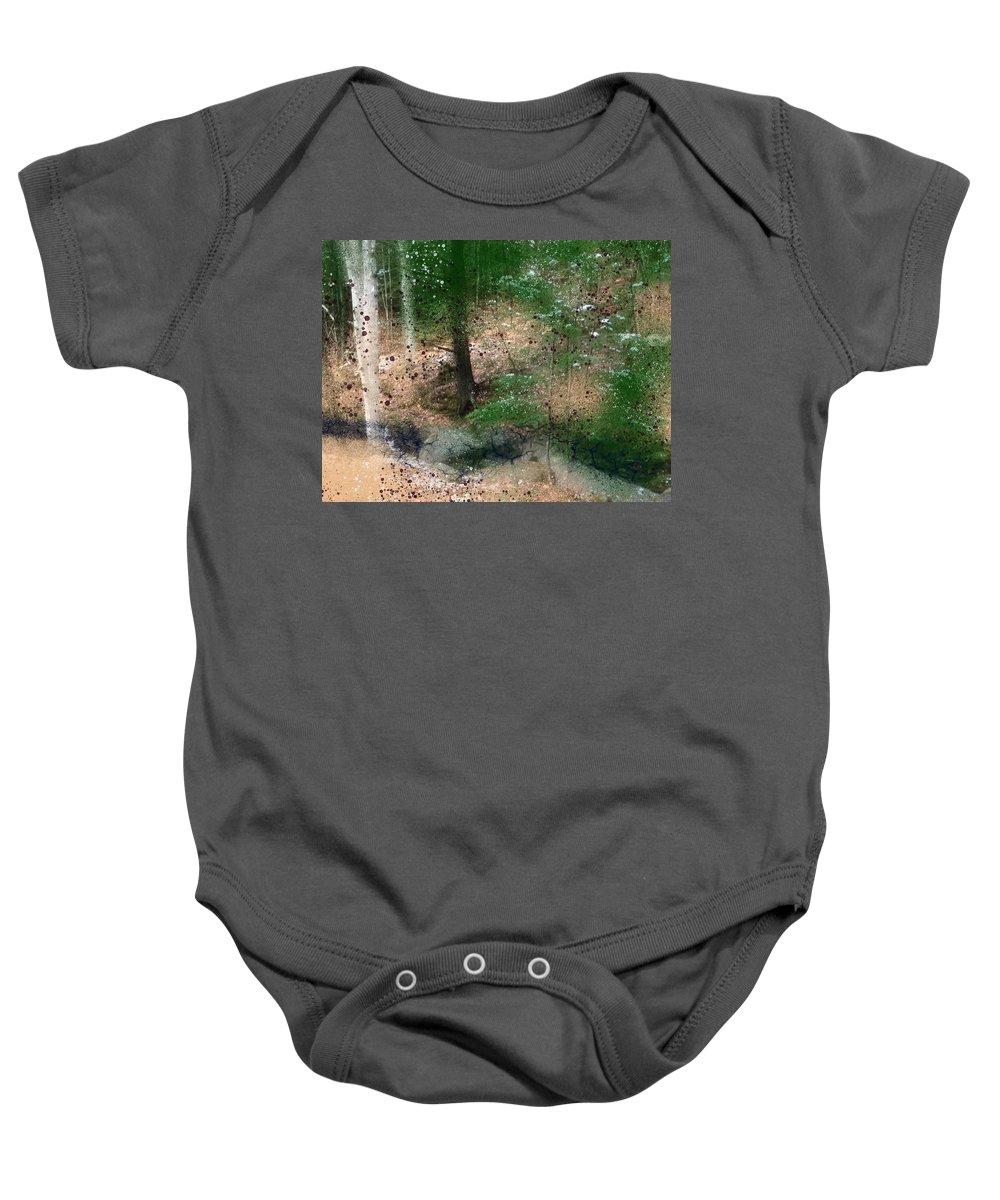 Stream Baby Onesie featuring the painting The Balm by Bill Minkowitz