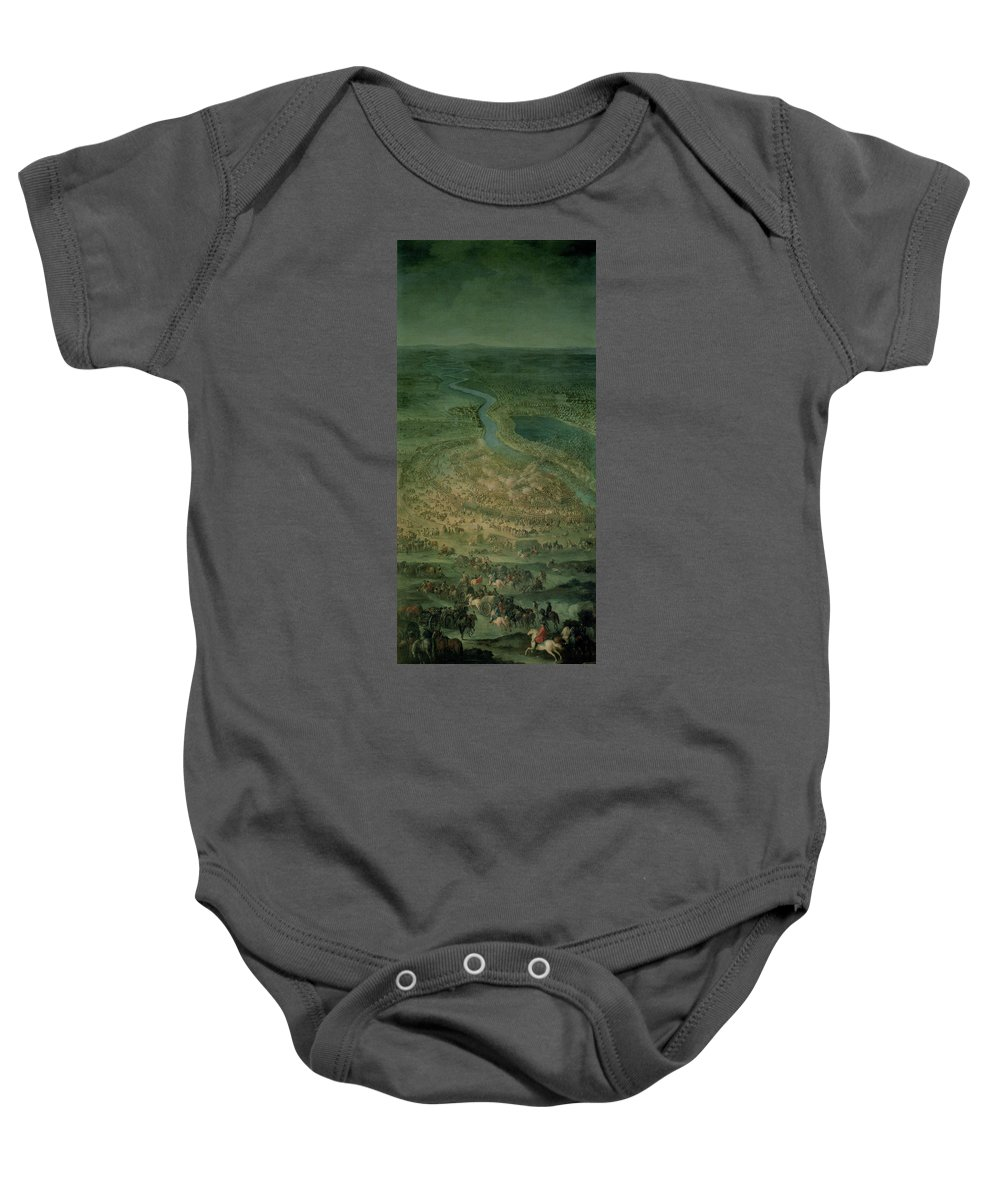 Landscape Baby Onesie featuring the photograph The Battle Of Senta, 11th September, 1697 At Which The Imperial Troops Of The Austrian Empire by Austrian School