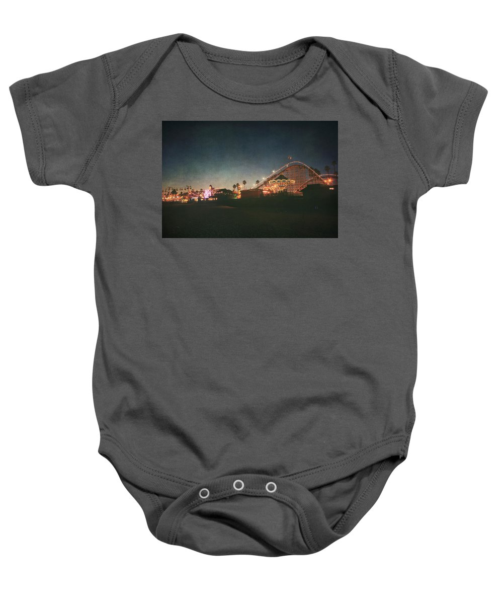 Santa Cruz Beach Boardwalk Baby Onesie featuring the photograph The Boardwalk by Laurie Search