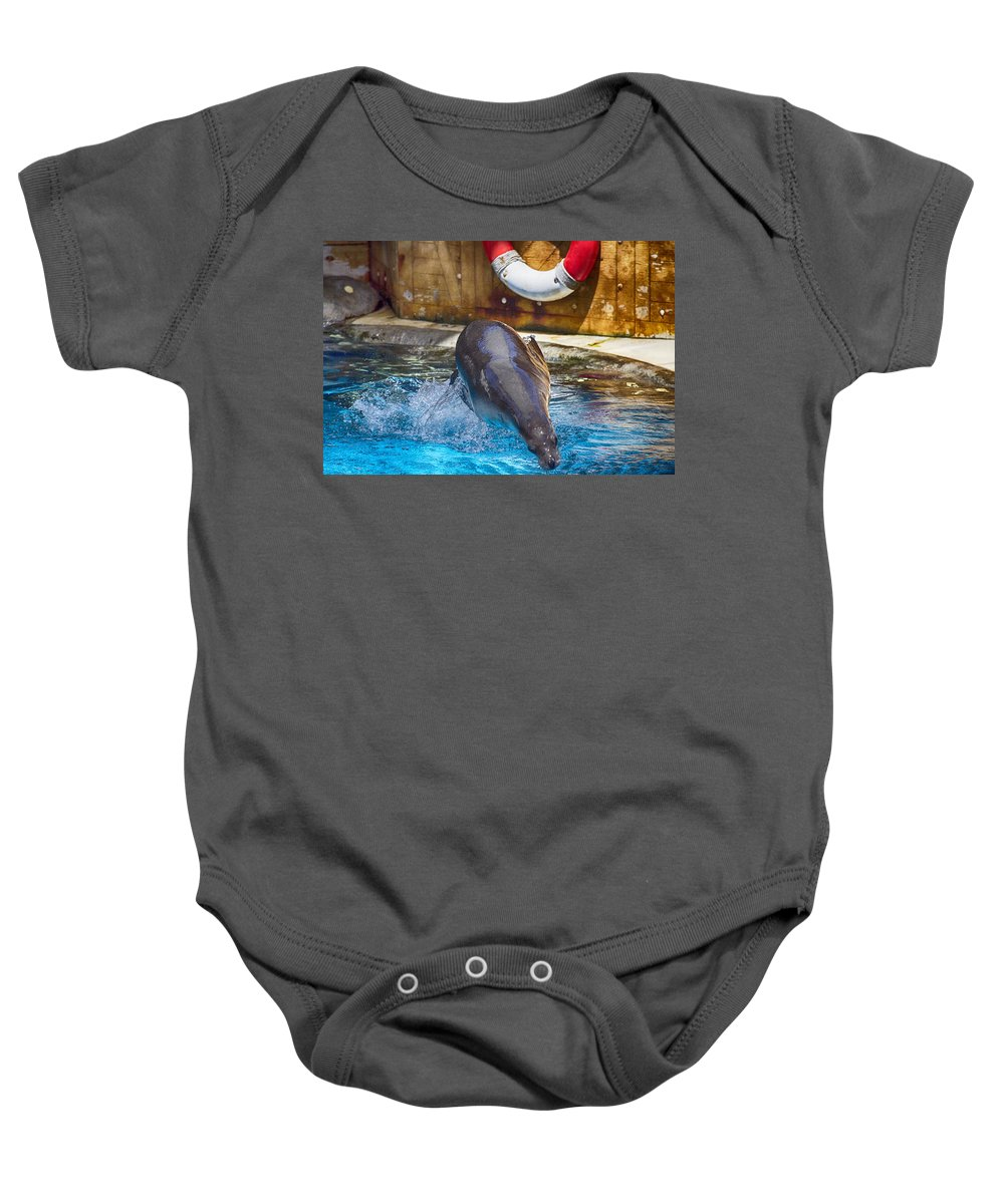 Breaststroke Baby Onesie featuring the photograph The Breaststroke by Douglas Barnard