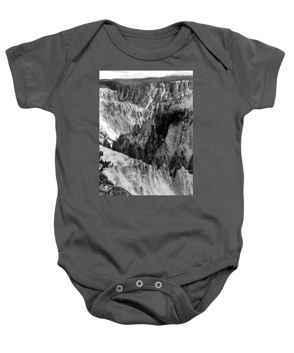 Yellowstone National Park Baby Onesie featuring the photograph The Canyon by Laurel Powell