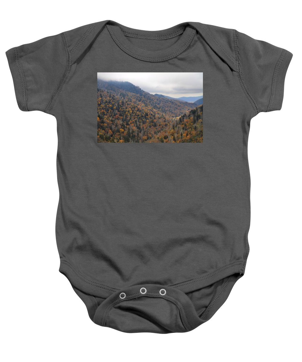 The Colors Of The Smokies Baby Onesie featuring the photograph The Colors Of The Smokies by Dan Sproul