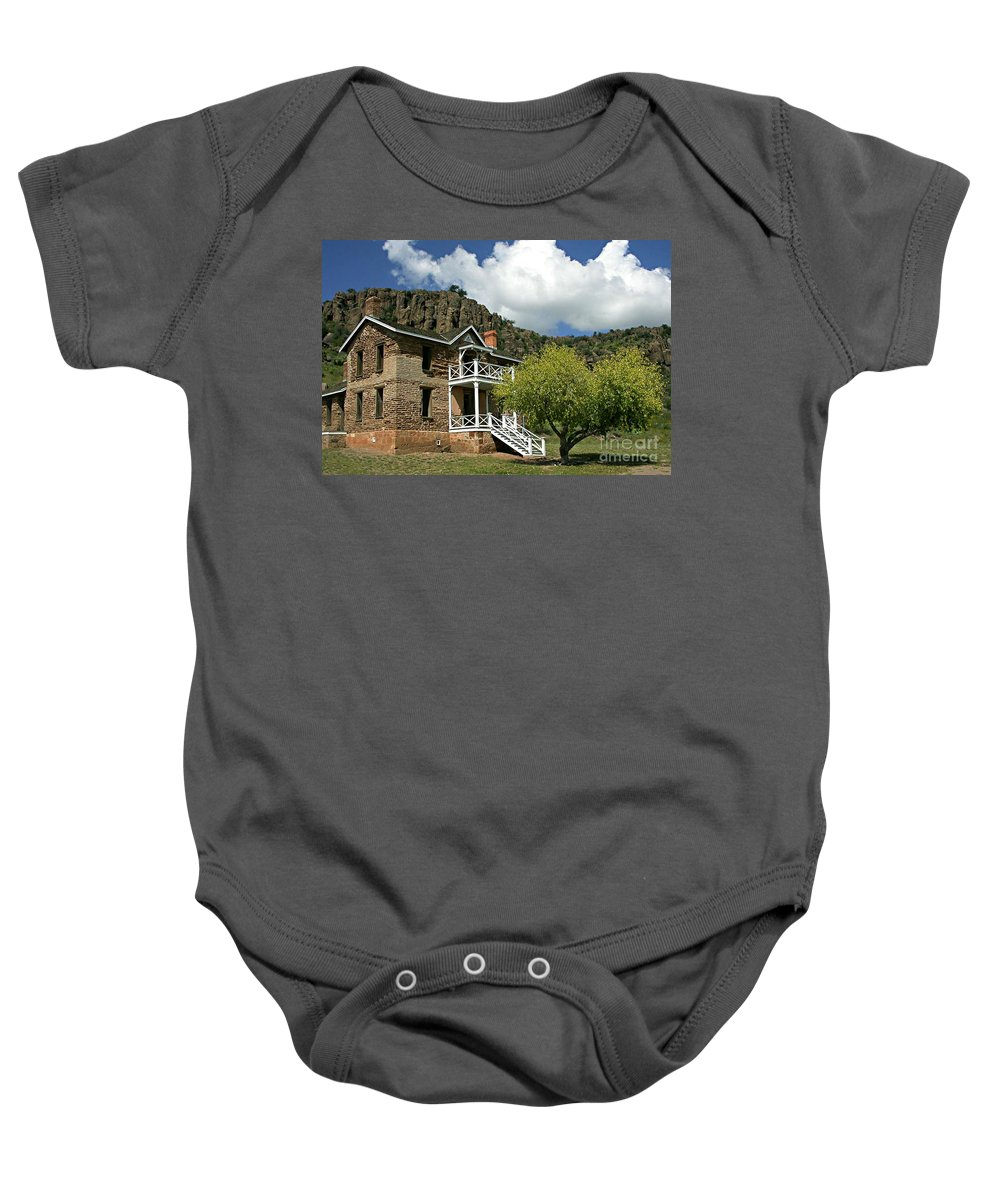 Don Baby Onesie featuring the painting The Commandants Quarters by Don Wright
