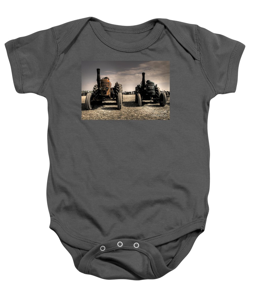 Field Baby Onesie featuring the photograph The Field Marshall's by Rob Hawkins