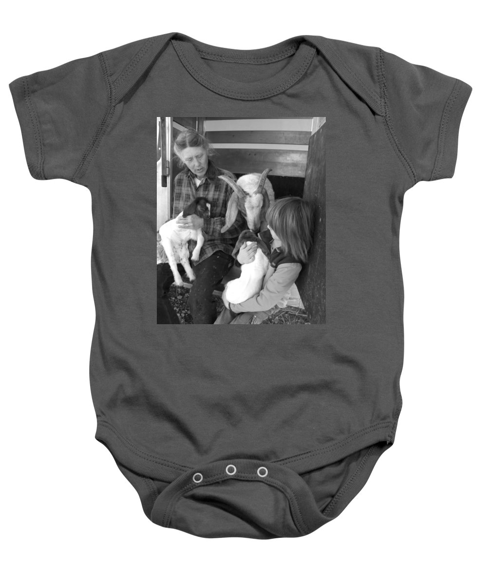 Kid Baby Onesie featuring the photograph The Future Of Farming by Sheri Lauren