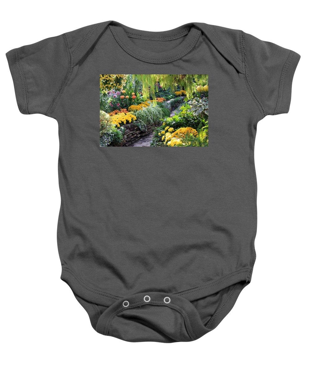 Allen Baby Onesie featuring the photograph The Garden by Munir Alawi