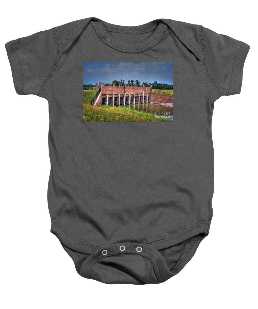Watergate Baby Onesie featuring the photograph The Gates Are Open by M Dale
