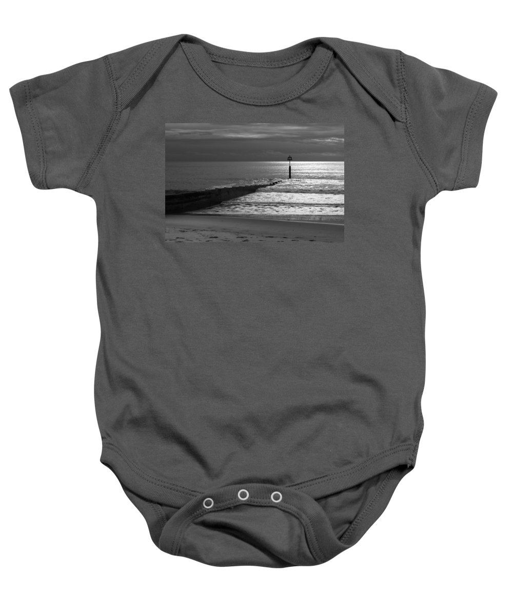 Groyne Baby Onesie featuring the photograph The Groyne by Chris Day
