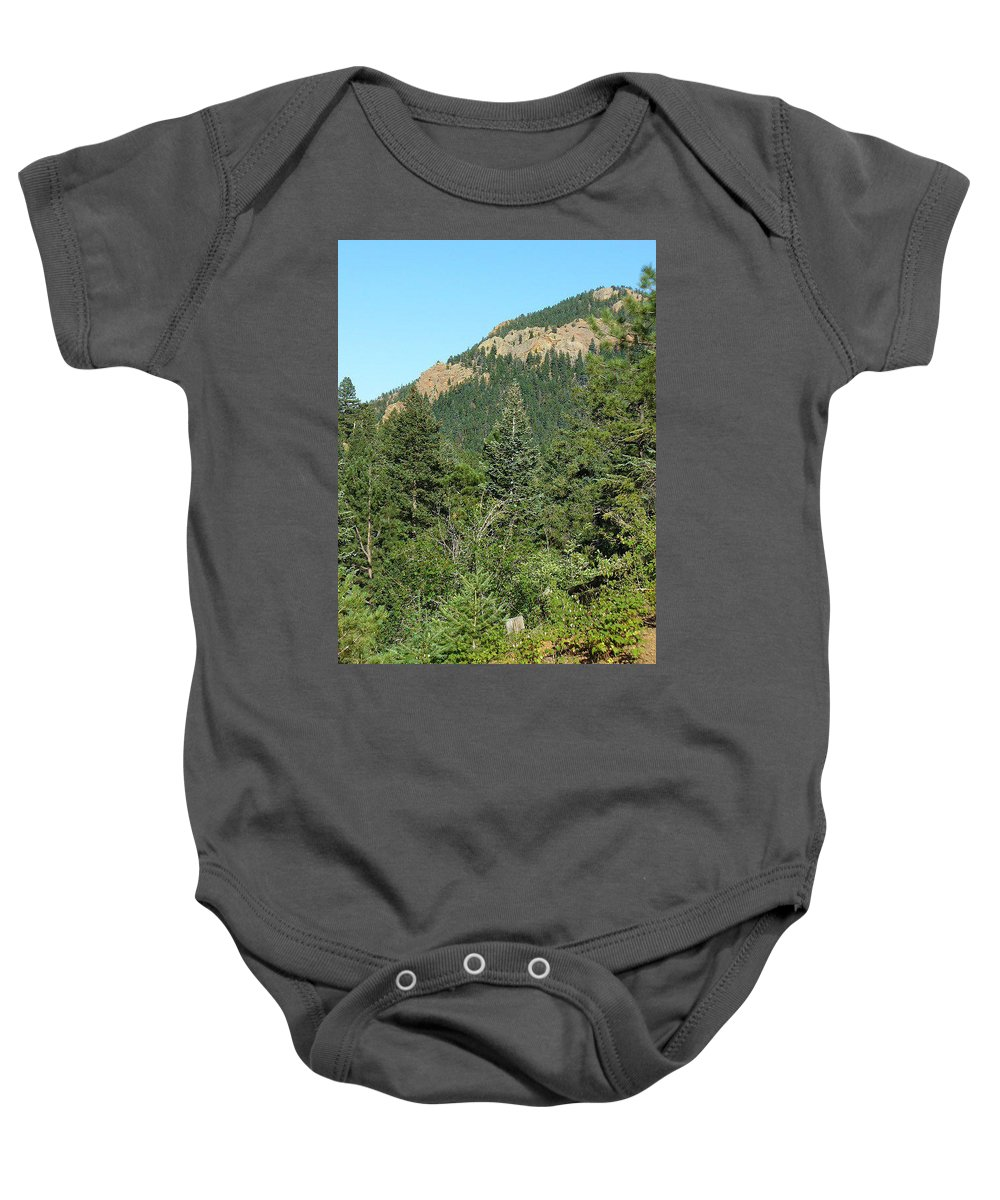 Lyle Baby Onesie featuring the painting The Hills by Lord Frederick Lyle Morris