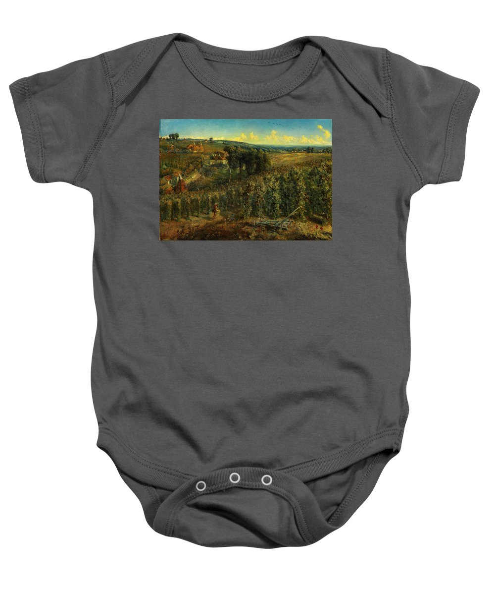 Cecil Gordon Lawsonthe Hop-gardens Of England Baby Onesie featuring the painting The Hop-gardens Of England by Celestial Images