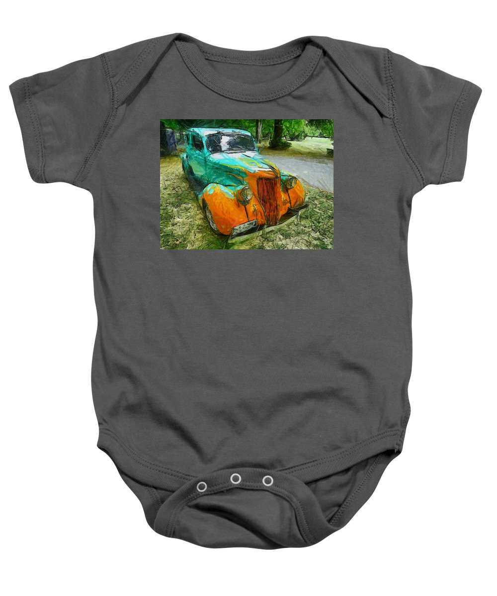 Toad Of Toad Hall Baby Onesie featuring the photograph The Hotrod by Steve Taylor