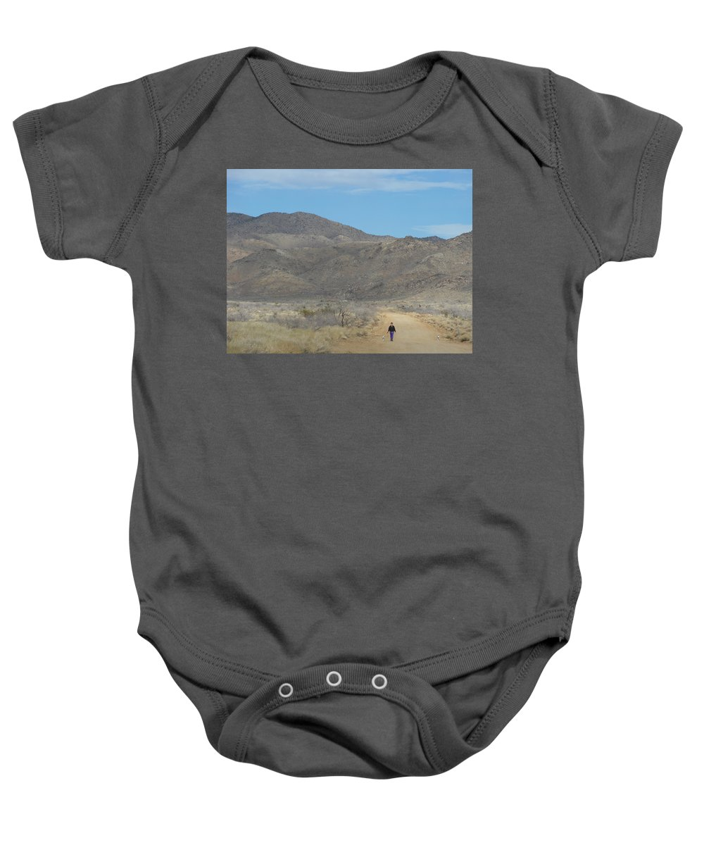 Landscape Baby Onesie featuring the photograph The Long Road Home by James Welch