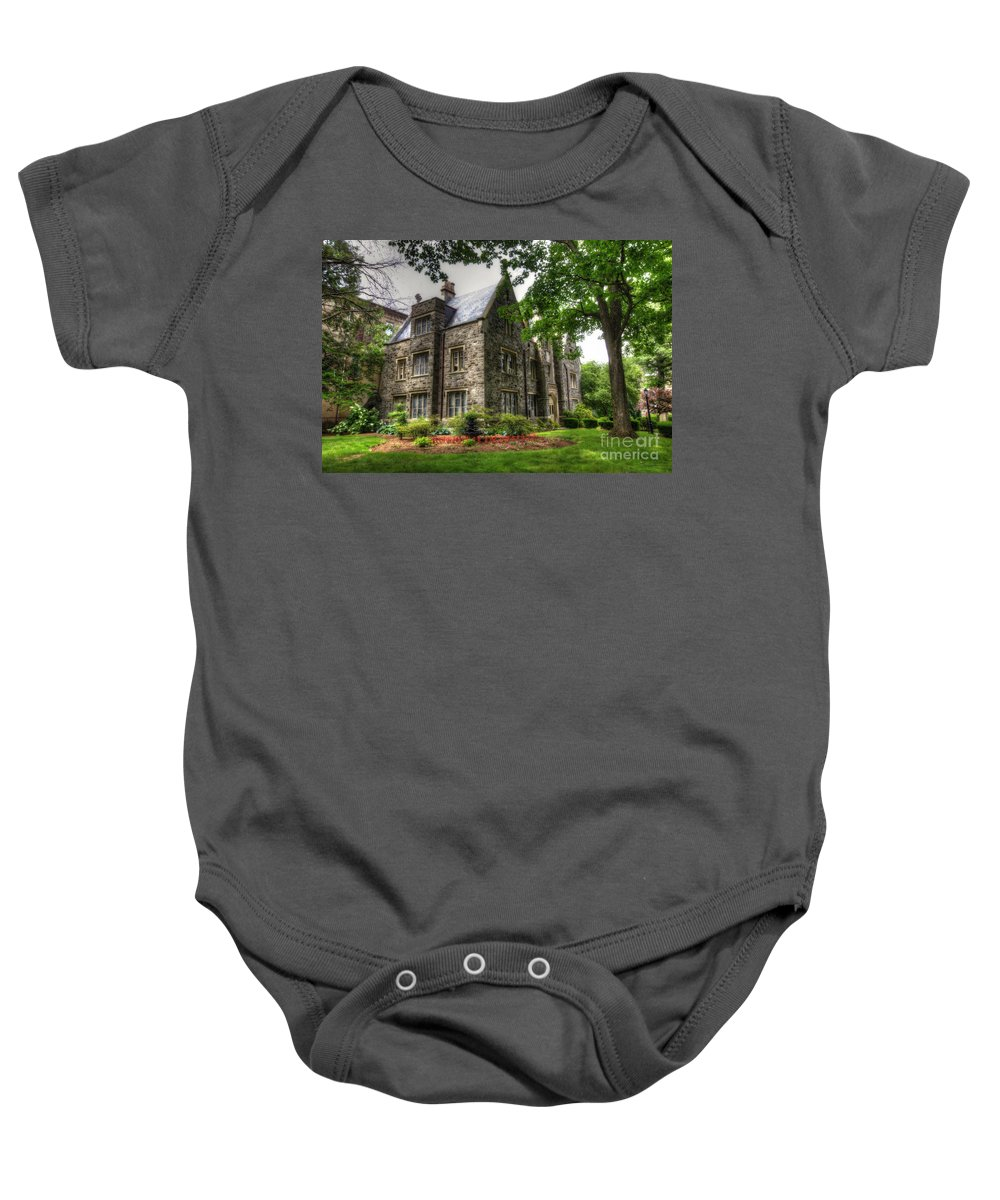 Convent Baby Onesie featuring the photograph The Manor by Traci Law