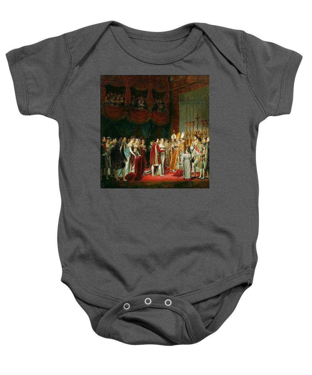 Court Baby Onesie featuring the photograph The Marriage Of Napoleon I 1769-1821 And Marie Louise 1791-1847 Archduchess Of Austria, 2nd April by Georges Rouget