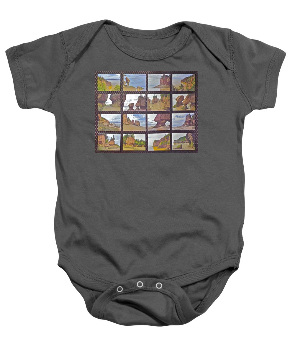 The Mystery Of Tides Baby Onesie featuring the photograph The Mystery Of Tides Photo Assemblage by Ruth Hager