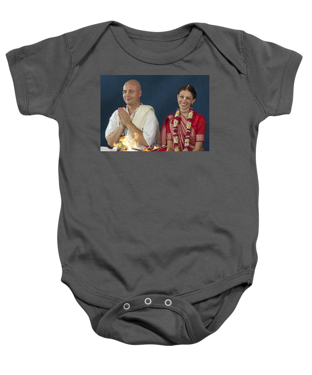 Bride Baby Onesie featuring the photograph The Newly Married Couple by Daniel Csoka