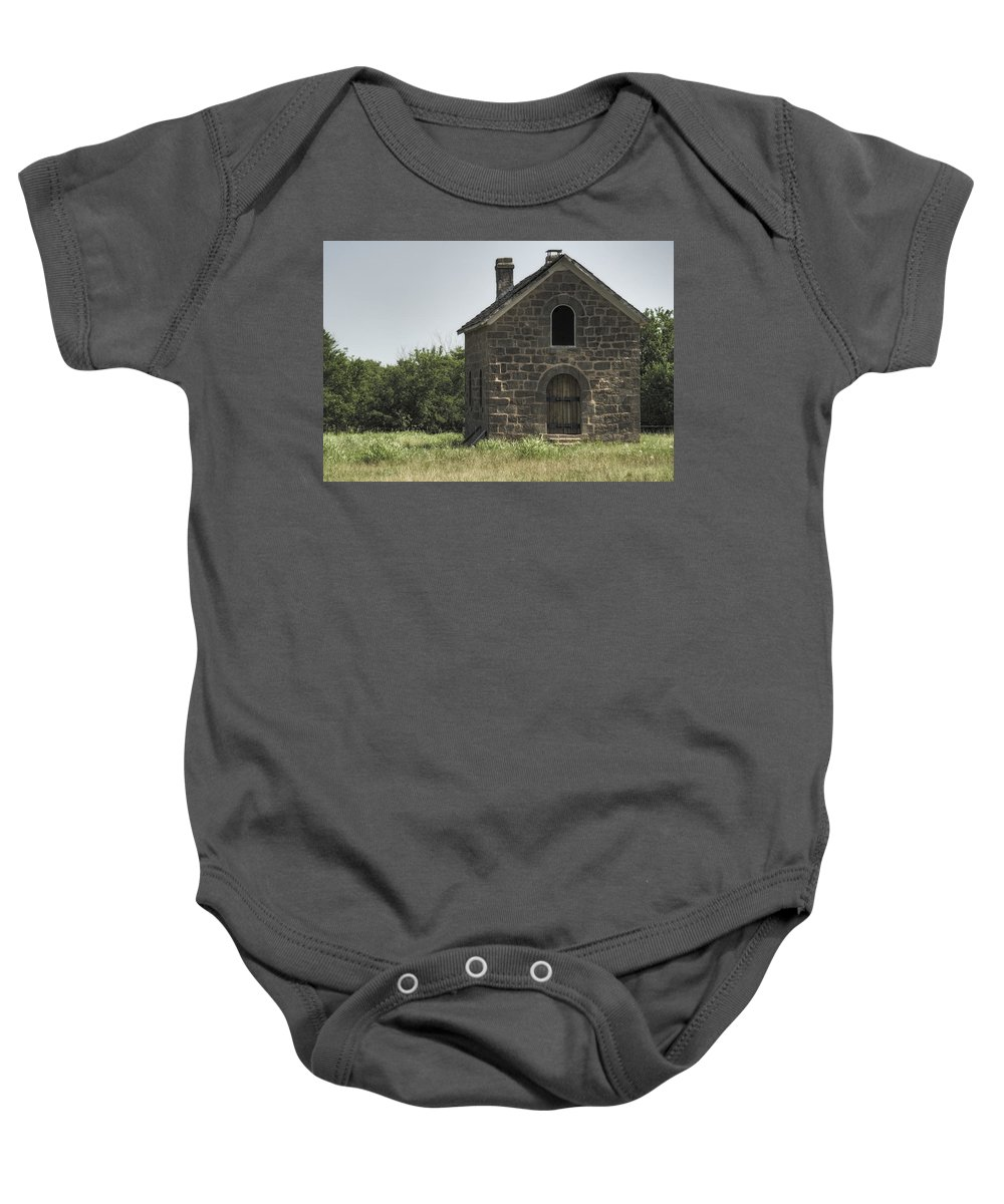Sacred Baby Onesie featuring the photograph The Old Bakery by Ricky Barnard