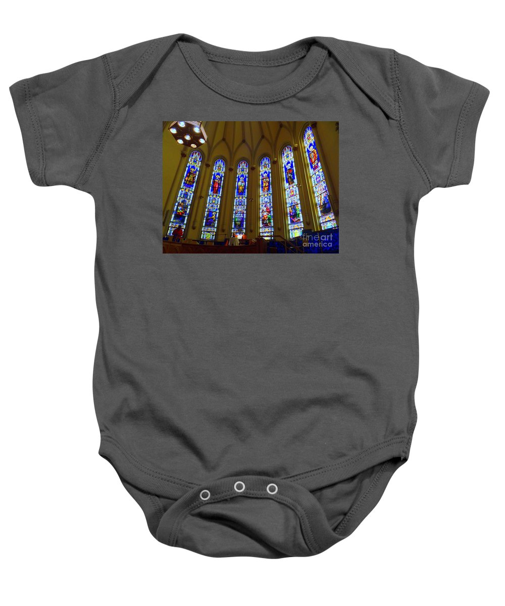 Church Baby Onesie featuring the photograph The Organist by Ed Weidman