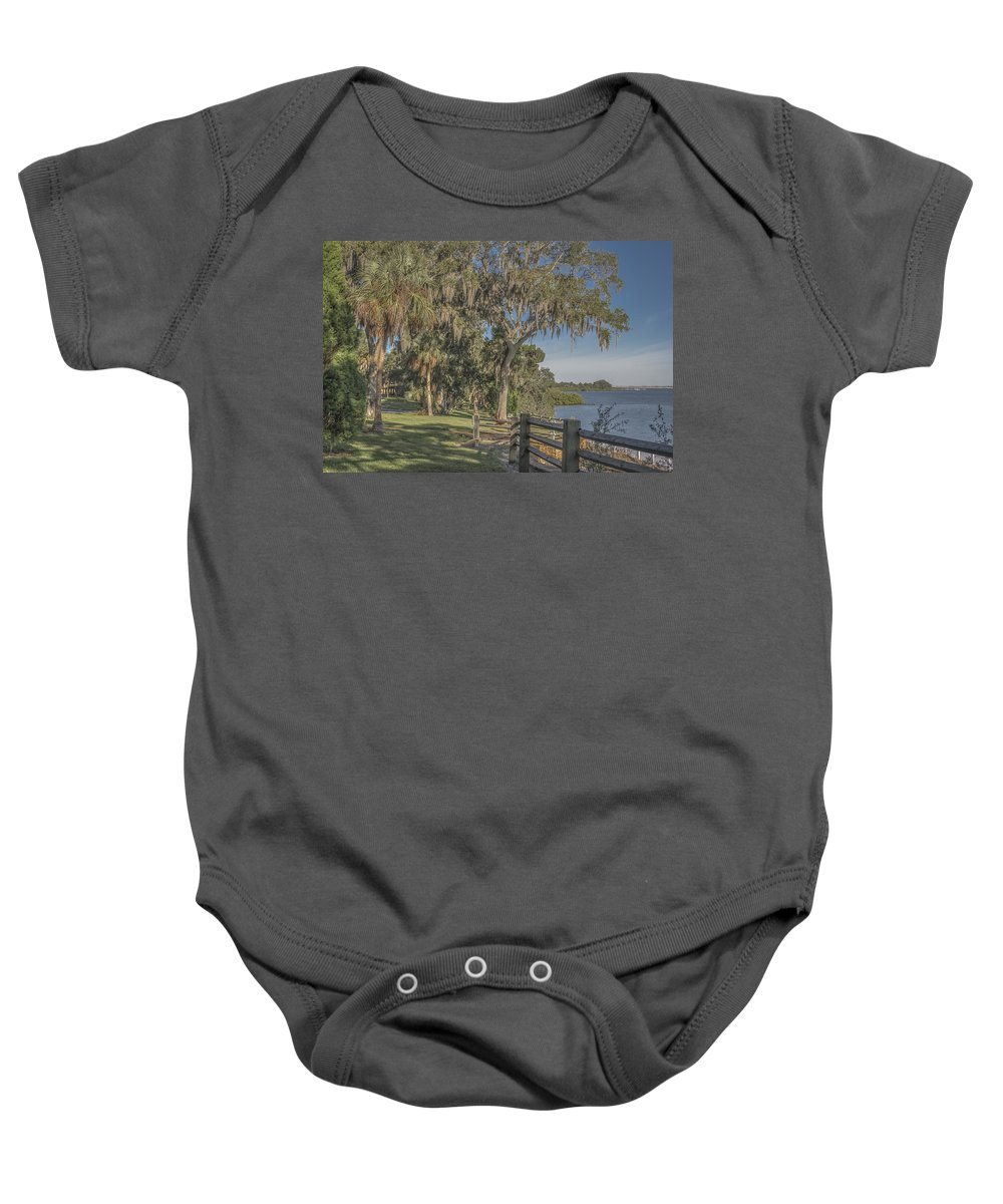 Florida Baby Onesie featuring the photograph The Park by Jane Luxton