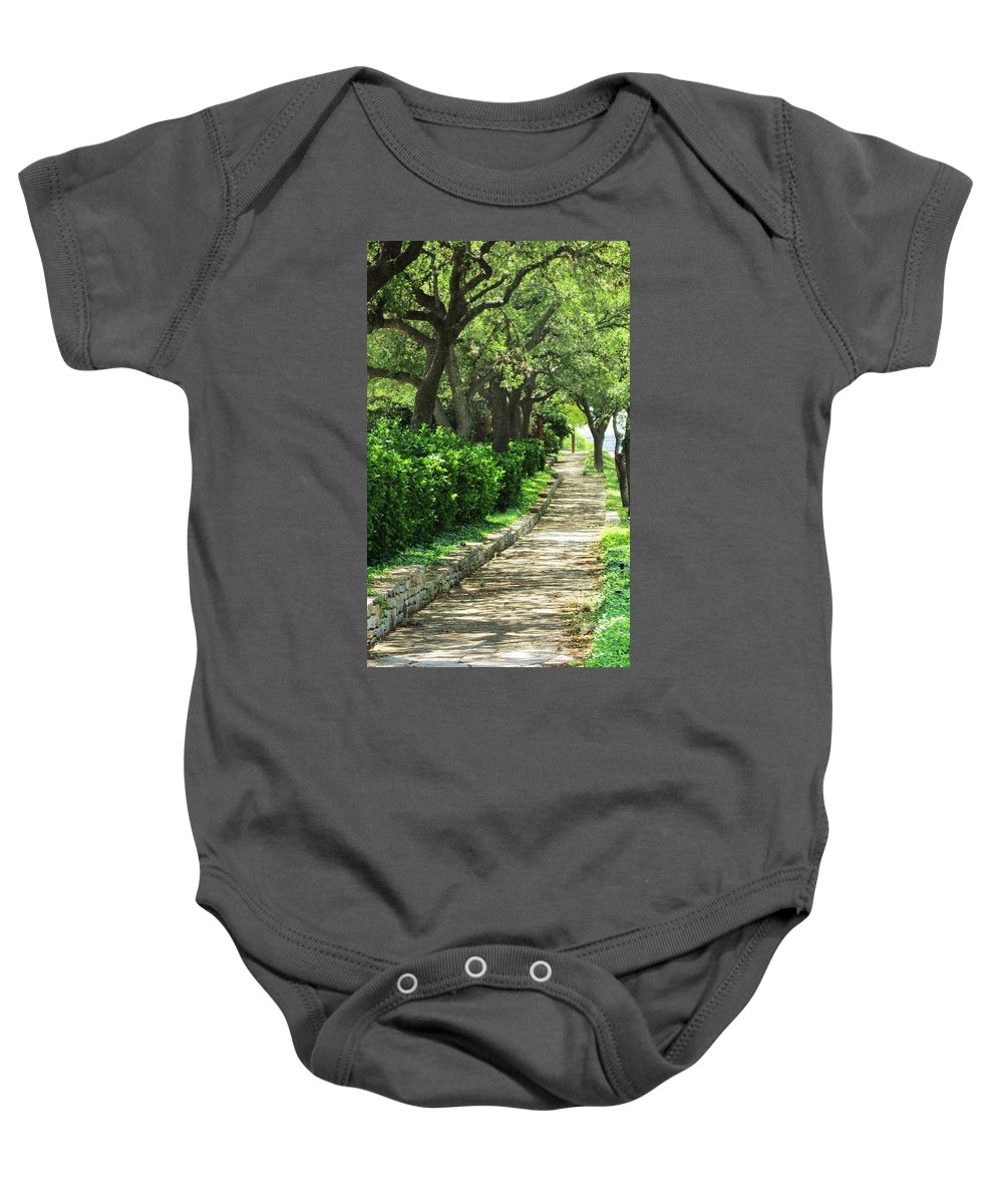 Path Baby Onesie featuring the photograph The Path by Jewell McChesney