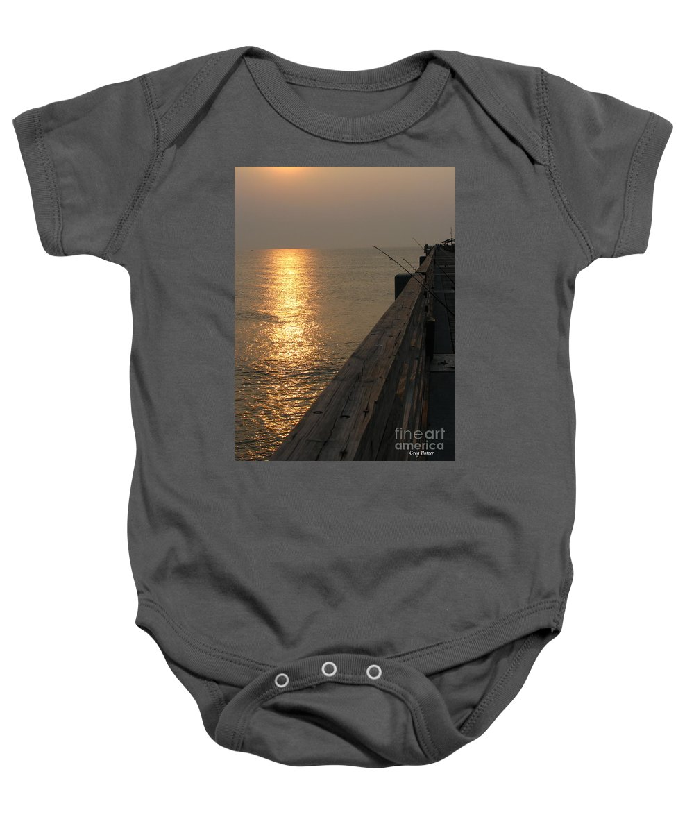 Art For The Wall...patzer Photography Baby Onesie featuring the photograph The Pole by Greg Patzer
