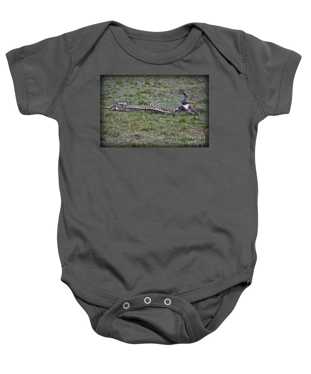 Buffalo Baby Onesie featuring the photograph The Quick And The Dead by Gary Keesler