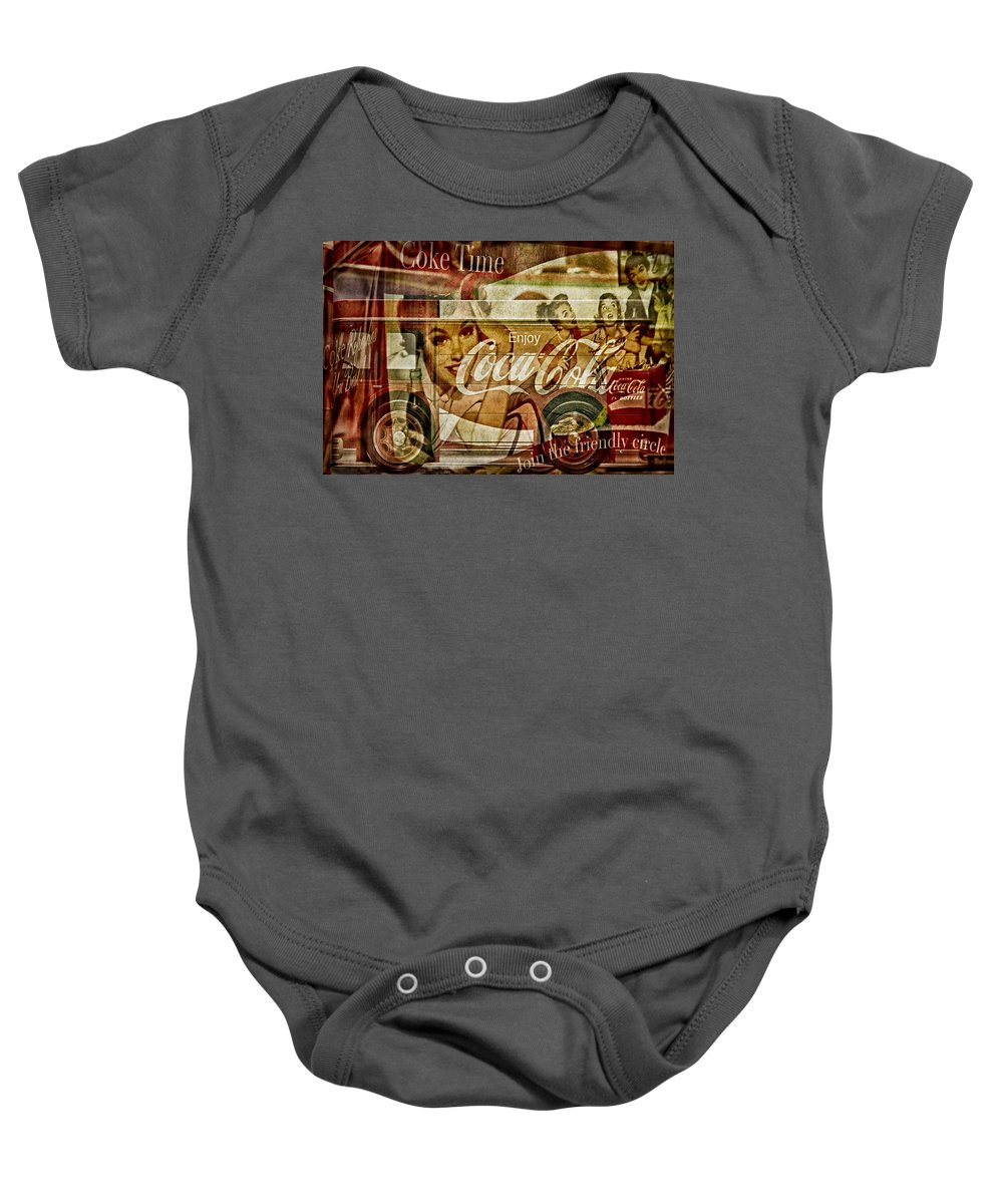 Coca Cola Baby Onesie featuring the photograph The Real Thing by Susan Candelario