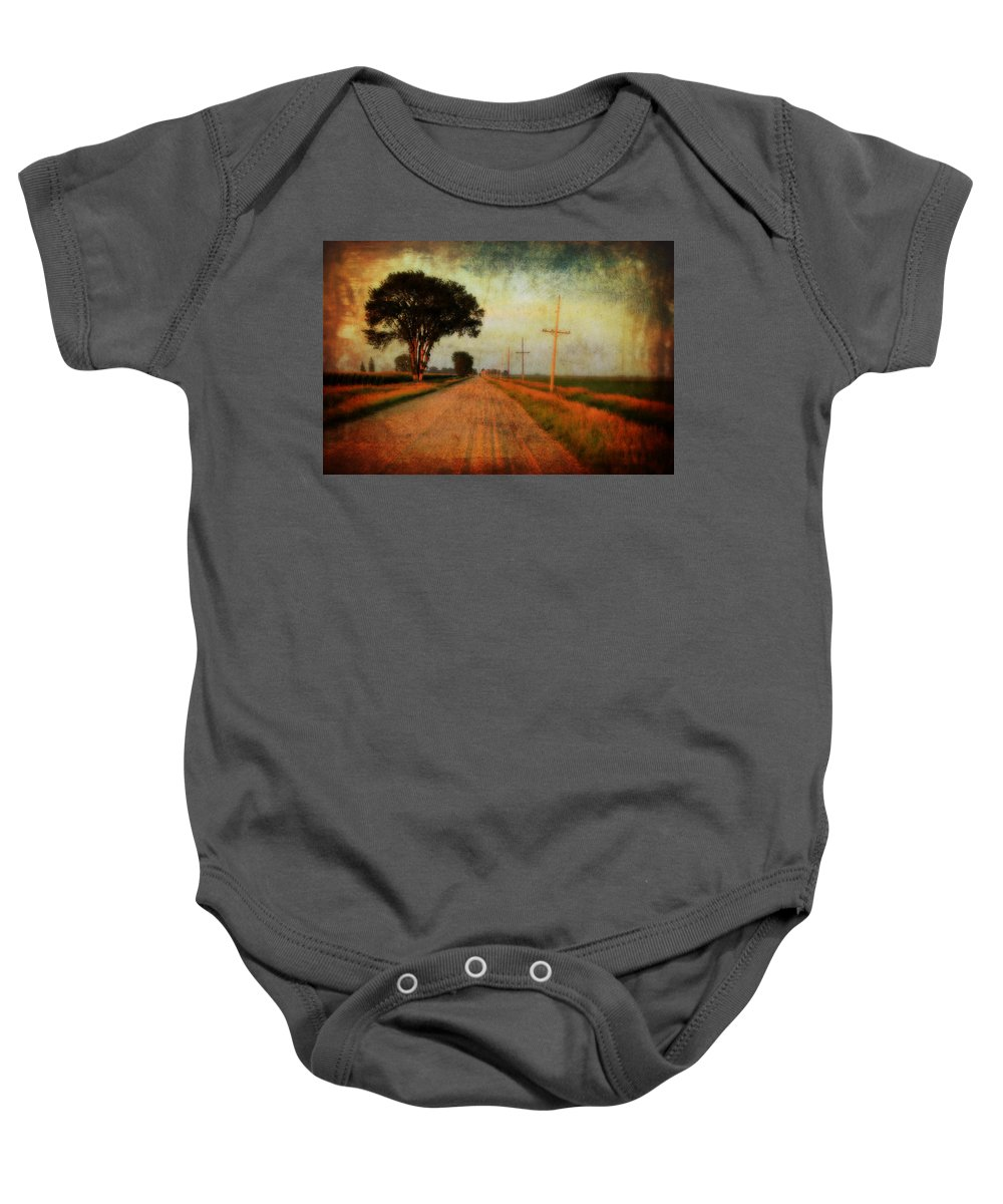 Gravel Road Baby Onesie featuring the photograph The Road Home by Julie Hamilton