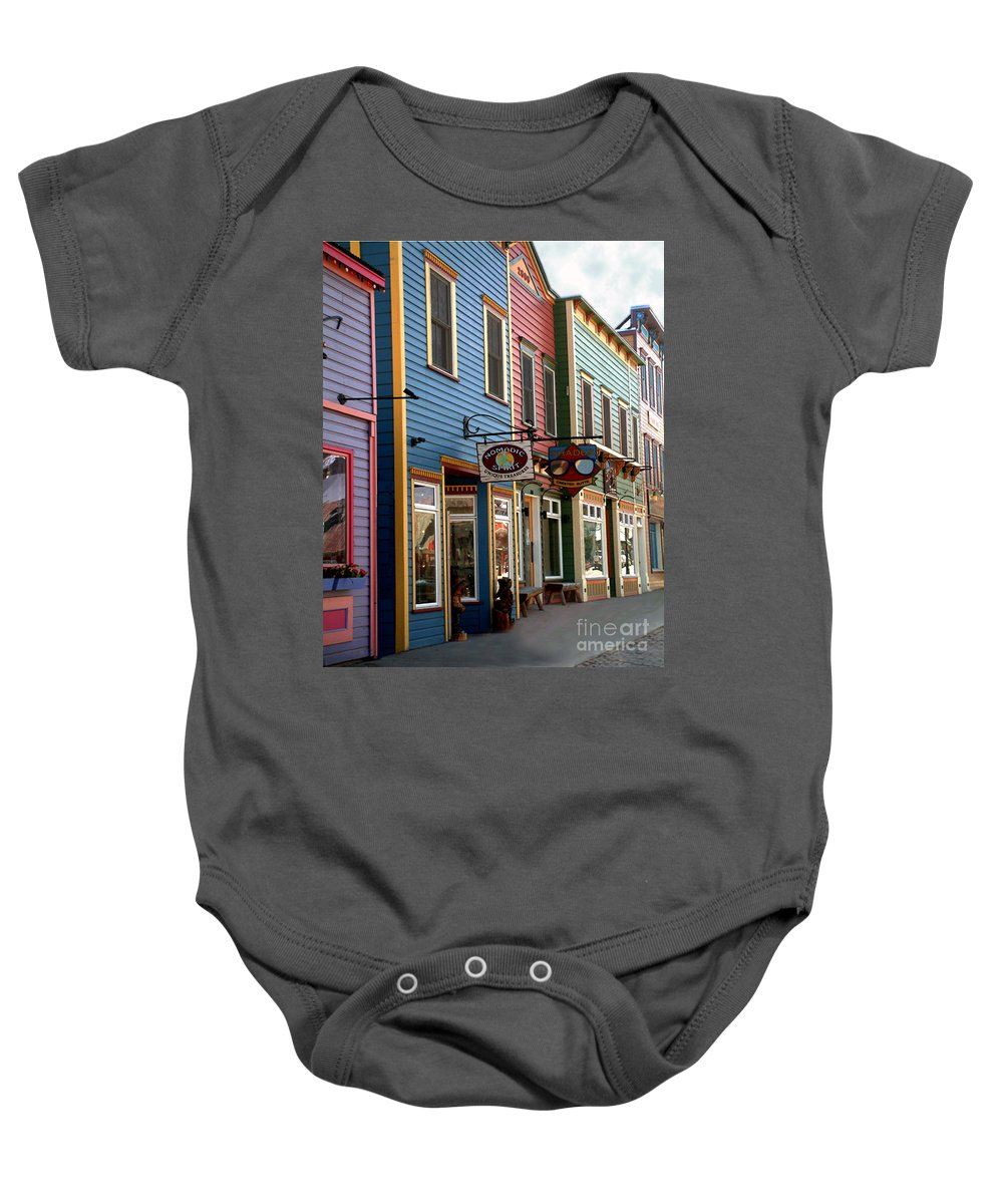 Landscape Baby Onesie featuring the photograph The Shops In Crested Butte by RC DeWinter