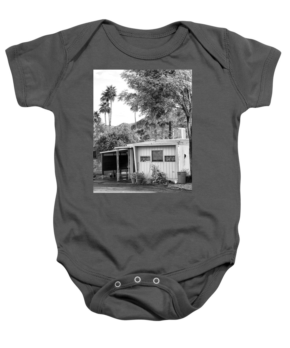 Baby Onesie featuring the photograph The Simple Life Bw by William Dey